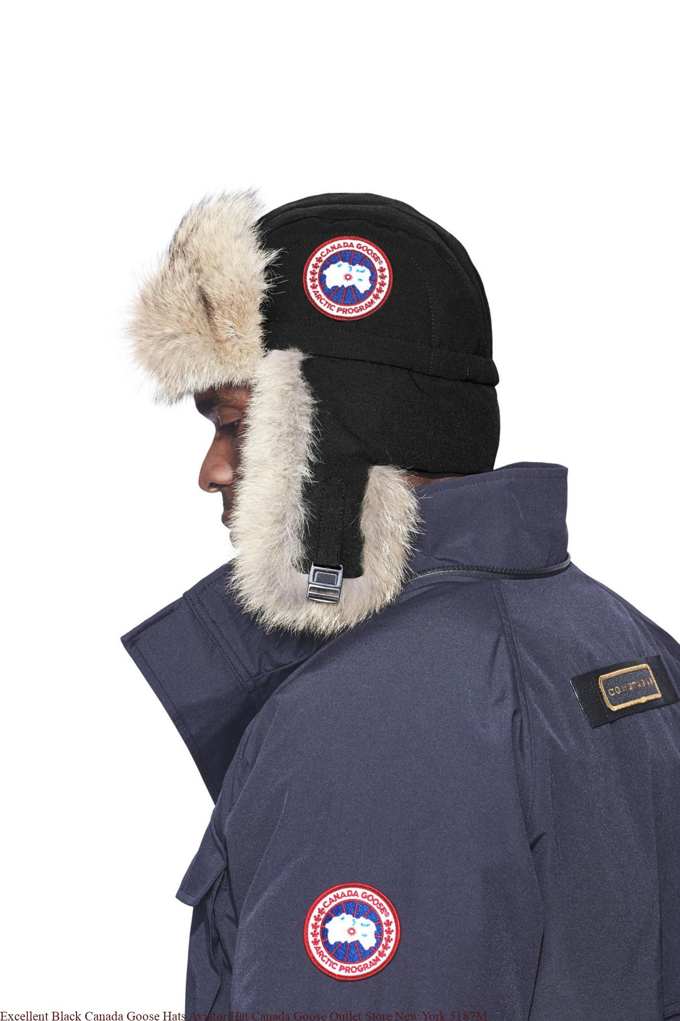 Excellent Black Canada Goose Hats Aviator Hat Canada Goose Outlet Store New  York 5187M – UK Cheap Canada Goose Outlet Jackets On Sale