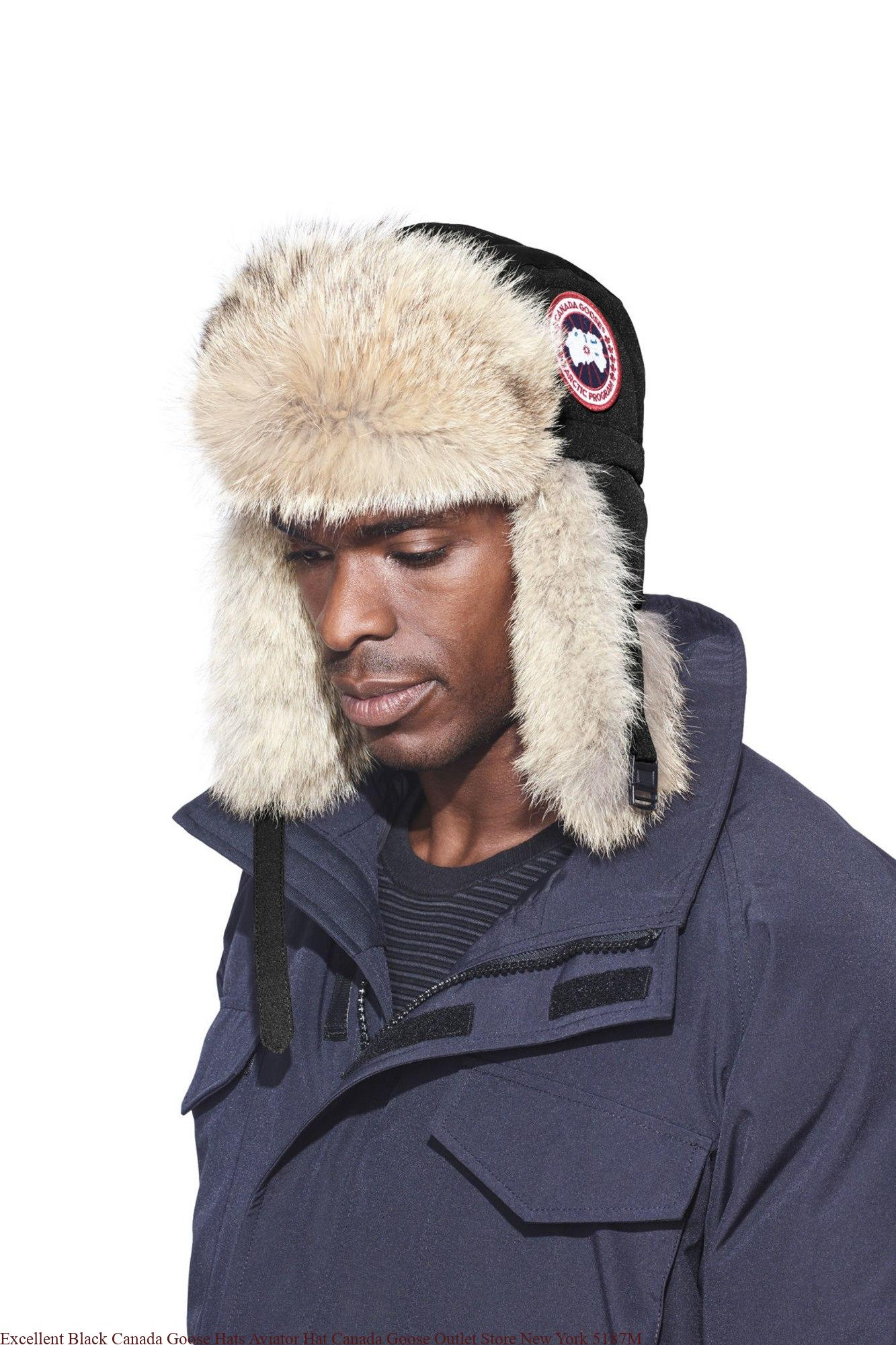 ca6444b09de24 Excellent Black Canada Goose Hats Aviator Hat Canada Goose Outlet Store New  York 5187M – UK Cheap Canada Goose Outlet Jackets On Sale