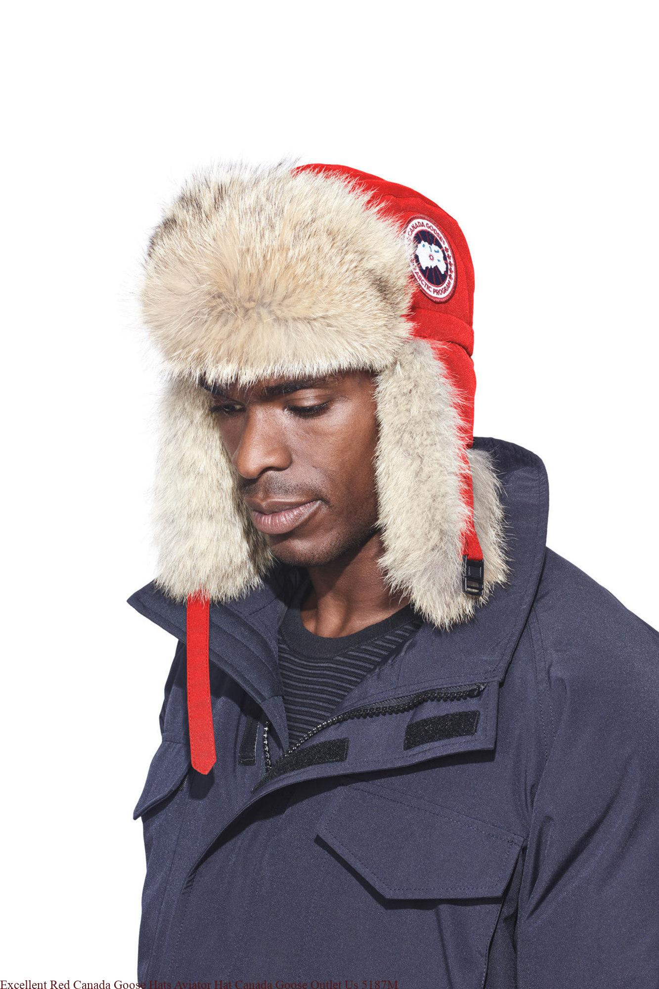 21e8174da37 Excellent Red Canada Goose Hats Aviator Hat Canada Goose Outlet Us ...