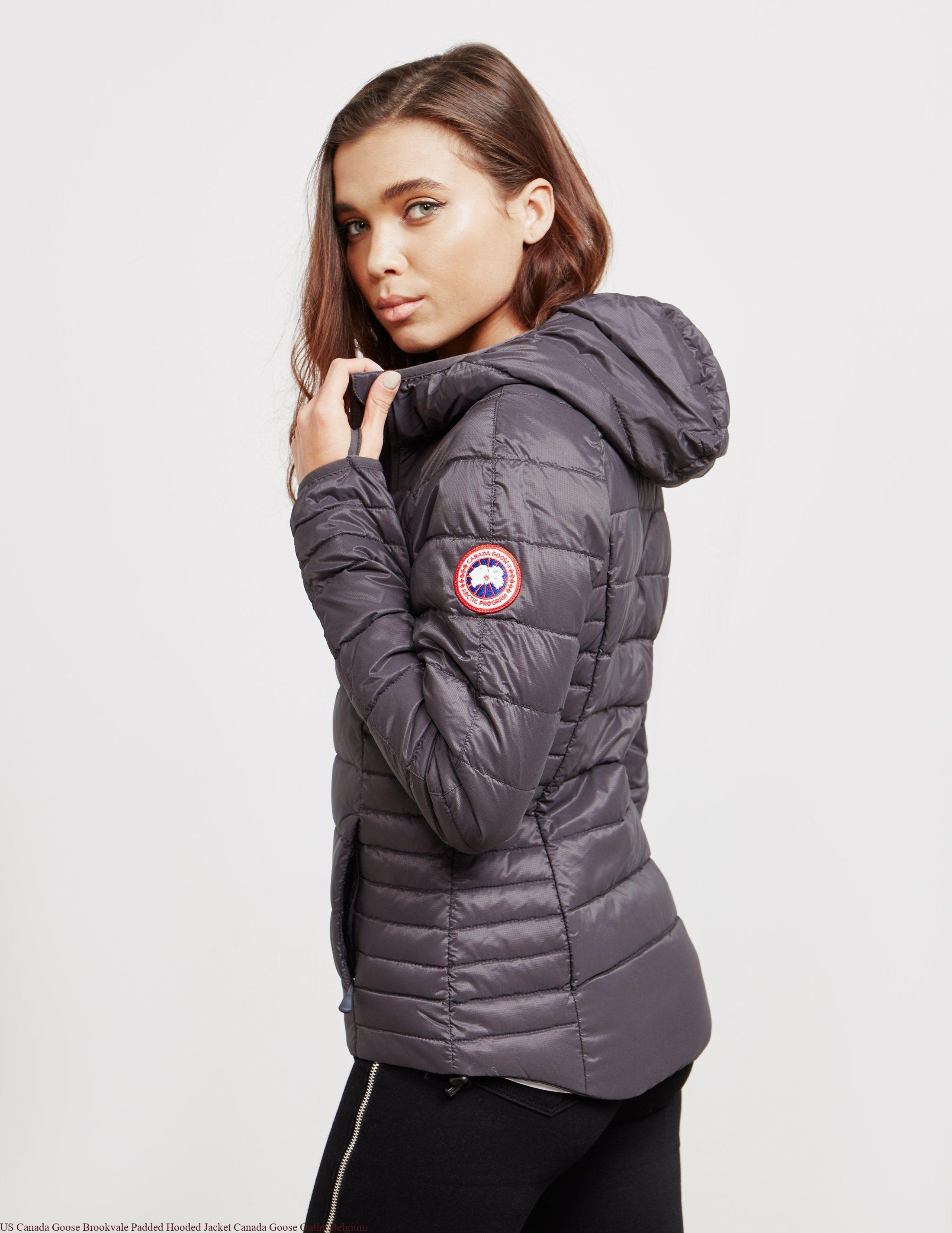e00521d53 US Canada Goose Brookvale Padded Hooded Jacket Canada Goose Outlet Belgium
